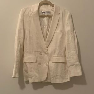 White Light Weight Zara Blazer